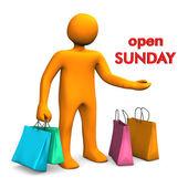 Manikin Open Sunday — Stock Photo