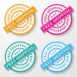 Royalty-Free Stock Vector Image: Free Shipping Paper Labels