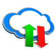Stock Photo: Cloud Upload Download