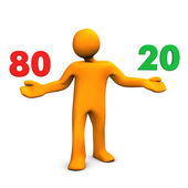Pareto Principle — Stock Photo