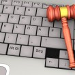 Keyboard Gavel — Stock Photo #25256121