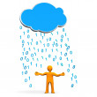 Manikin Cloud Data Rain — Stock Photo
