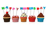 Cupcakes Happy Mothersday — Stock Photo