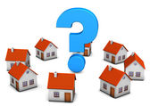 Homes Question Mark — Stock Photo