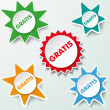 Stock Vector: Star Labels Gratis