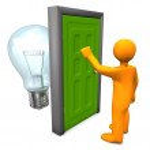 Manikin Door Bulb — Stock Photo