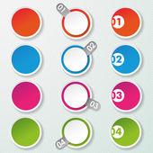 Четыре варианта бумажные кружки — Cтоковый вектор