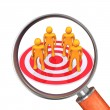 Loupe Target Groupe — Stock Photo