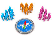 Target Audience Compass — Stock Photo