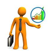 Businessman Chart — Stock Photo