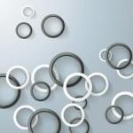 abstract ringen bubbels zwart en wit — Stockvector  #26872369