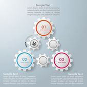 Triangle Gears Infographic Design — Stock Vector