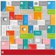 Big Infographic Squares Background — Stock Vector