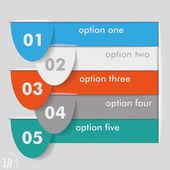 5 つのオプションのテンプレート — ストックベクタ