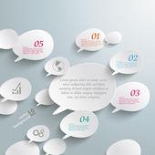 Bevel Speech Bubbles Infographic Design — Stock Vector
