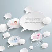 Bevel Speech And Thought Bubbles Infographic Design — Stock Vector