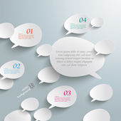 Infographic with bevel speech bubbles — Stock Vector