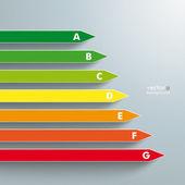Energy Efficiency Category — Stock Vector