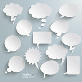 White Communication Bubbles — Stock Vector