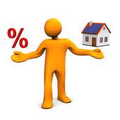 Manikin House Percent — Stock Photo