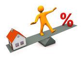 Manikin Balance Discount House — Stock Photo