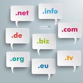 Domain Speech Bubbles — Stock Vector