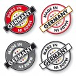 Made In Germany Stickers National Colors — Stock Vector