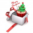 Gift Cupcake Merry Christmas — Stock Photo #35675045