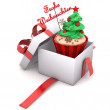 Gift Cupcake Merry Christmas — Stock Photo #35675047