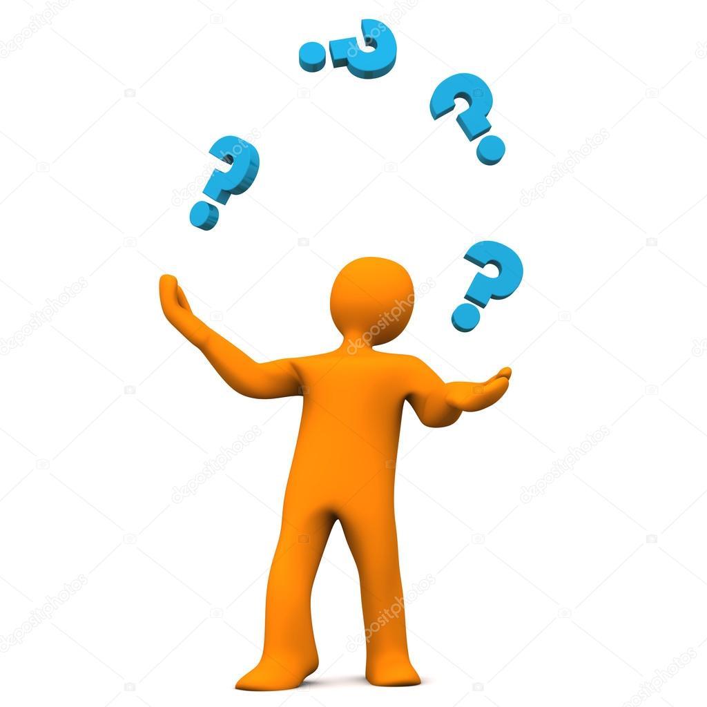 mu u00f1eco malabarista de interrogaci u00f3n foto de stock question mark clip art for free question mark clip art images free