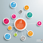 Infographic Successful Networks — Stock Vector