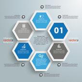 Hexagon Business Infographic — Stock Vector