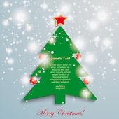 Christmas Tree Stars Background — Vector de stock