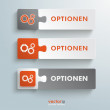 Button Puzzle Options — Stock Vector