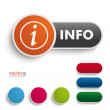 Info Button — Stock Vector