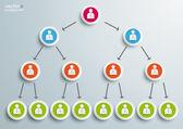 Pyramid Scheme Infographic — Stock Vector
