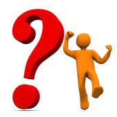 Manikin Question Bounce — Stock Photo