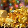 Royalty-Free Stock Photo: Gold Christmas decorations.