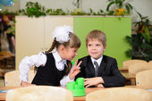 Konversation skolbarn. — Stockfoto