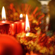Festive decorations with candles — Stock fotografie