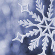 Big snowflake blue toned — Stock Photo #13187071