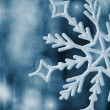 Stock Photo: Big snowflake blue toned