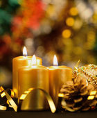 Christmas objects of decoration — Stock Photo
