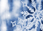 Big snowflake blue toned — Stock Photo