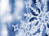 Big snowflake blue toned — Stock Photo