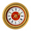 Dial of analog watch gold ornament — Stock Photo