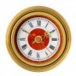 Stock Photo: Dial of analog watch gold ornament
