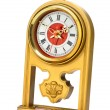 dial of analog watch gold ornament — Stock Photo #13673209