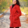 Stock Photo: Beautiful womin red cloak