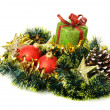 Christmas gift and decorative objects. - Stok fotoğraf